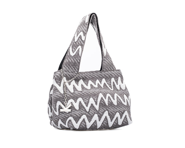 Graffiti Series - Fluffy Mini Tote Bag Grey
