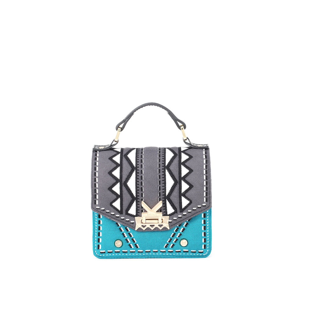 Three Angles Series-Crossbody Bag Grey Blue