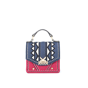 Three Angles Series-Crossbody Bag Blue Red