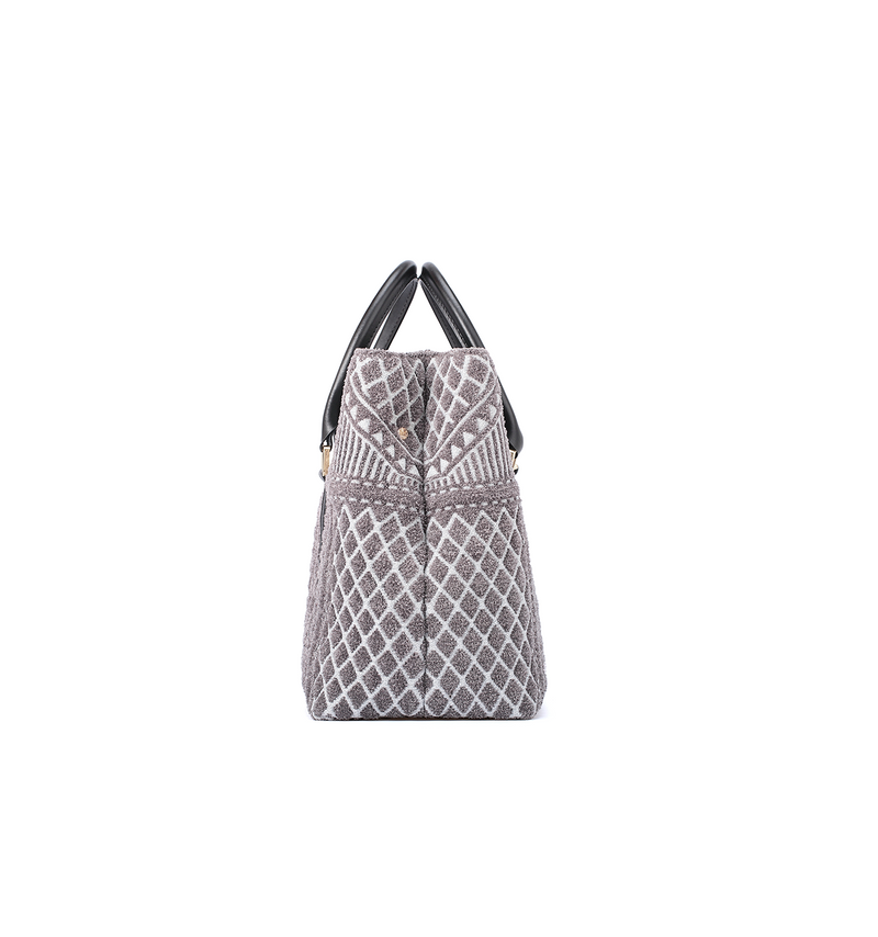 Crackles Series Embellish Diamond Shoulder Bag Grey
