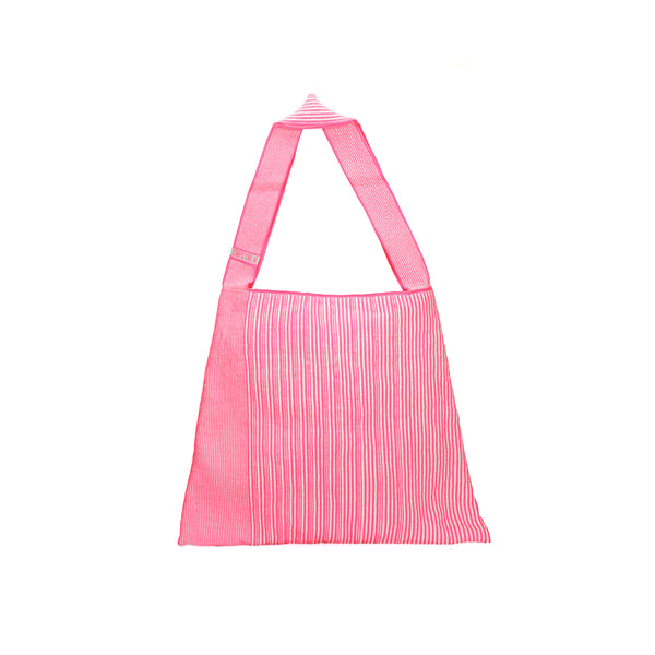 The TO。TE Series- Shopper Paper Tote Neon Pink