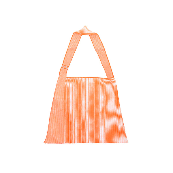 The TO。TE Series- Shopper Paper Tote Neon Orange