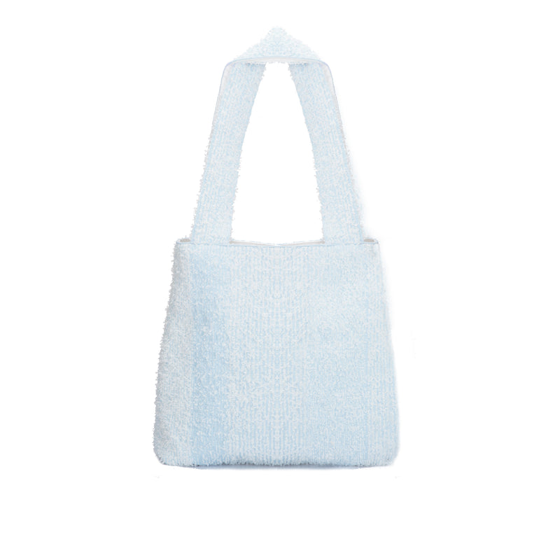 The TO。TE Series Shopper Snow Flake Tote Blue