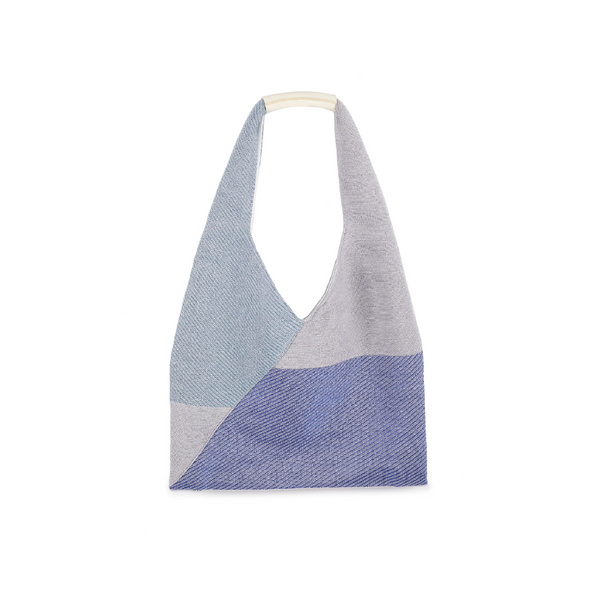 Crackles Series Metal Triangle Tote Sky Blue