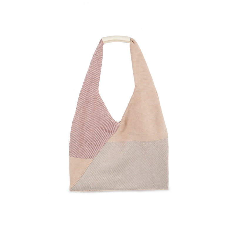 Crackles Series Metal Triangle Tote Cherry