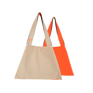 The TO。TE Series Hit color Shopper Brown/Orange