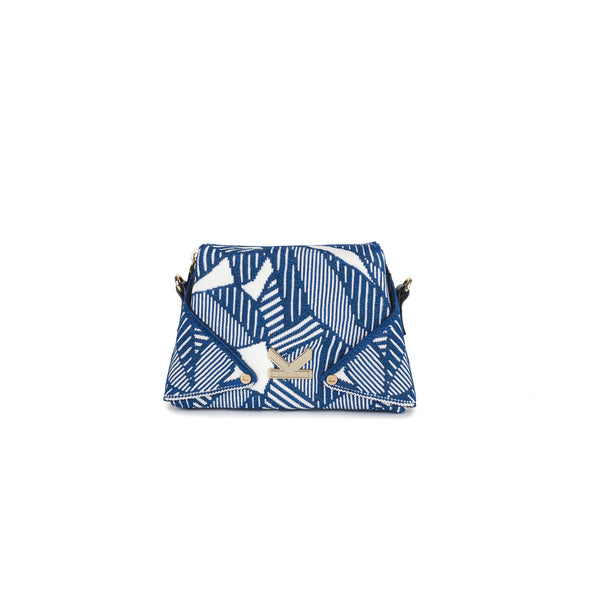 Crackles Series-Origami Mini Bag Sky Blue