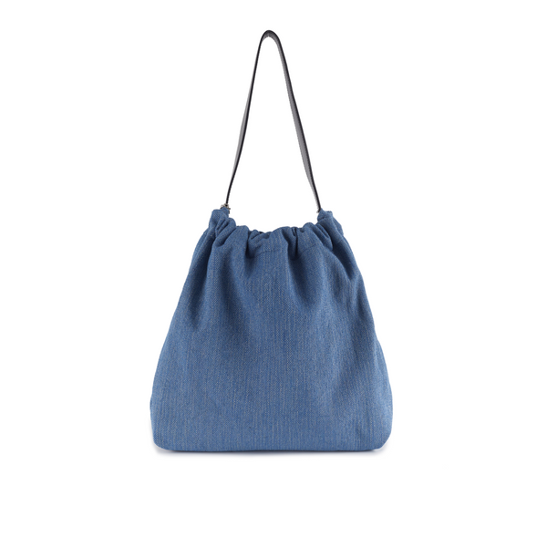 Crackles Series-Metal Basket Bag Denim Blue