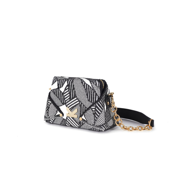 Crackles Series-Origami Mini Bag Black
