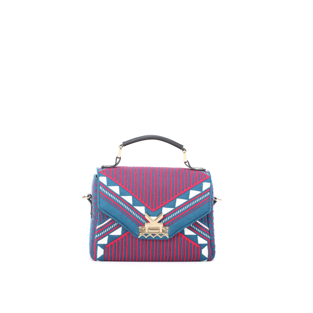 Three Angles Series Square Mini Bag Maroon