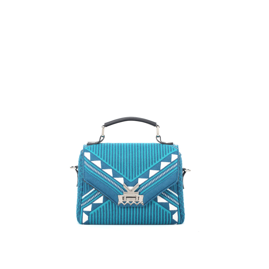 Three Angles Series Square Mini Bag Lake Blue