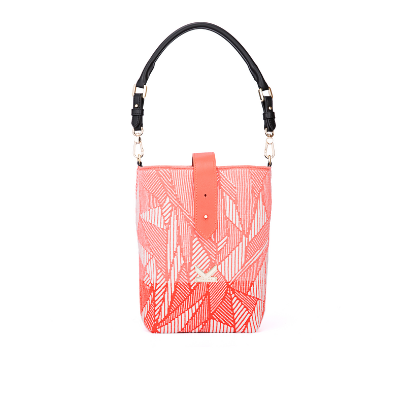 Secret Garden Floral Bucket Bag Orange