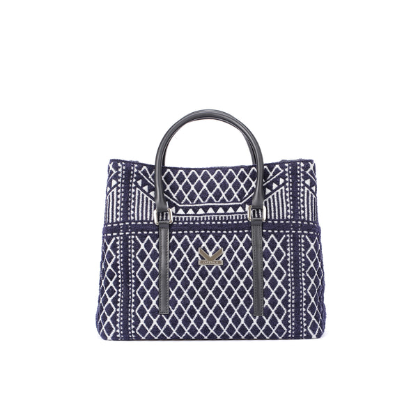 Crackles Series Embellish Diamond Shoulder Bag Navy