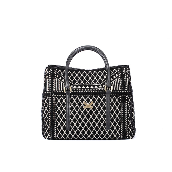 Crackles Series Embellish Diamond Shoulder Bag Black