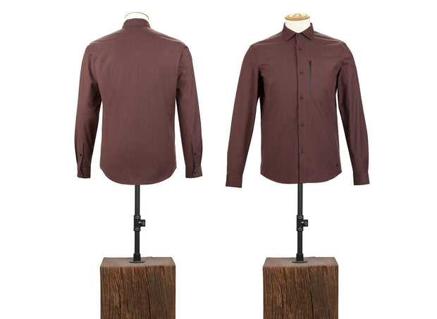 COTTON CASHMERE FITTED SHIRT