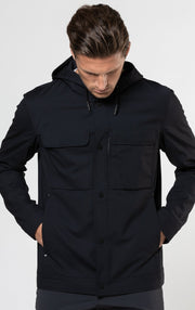 SUMMER WOOL BLEND HOODED JACKET