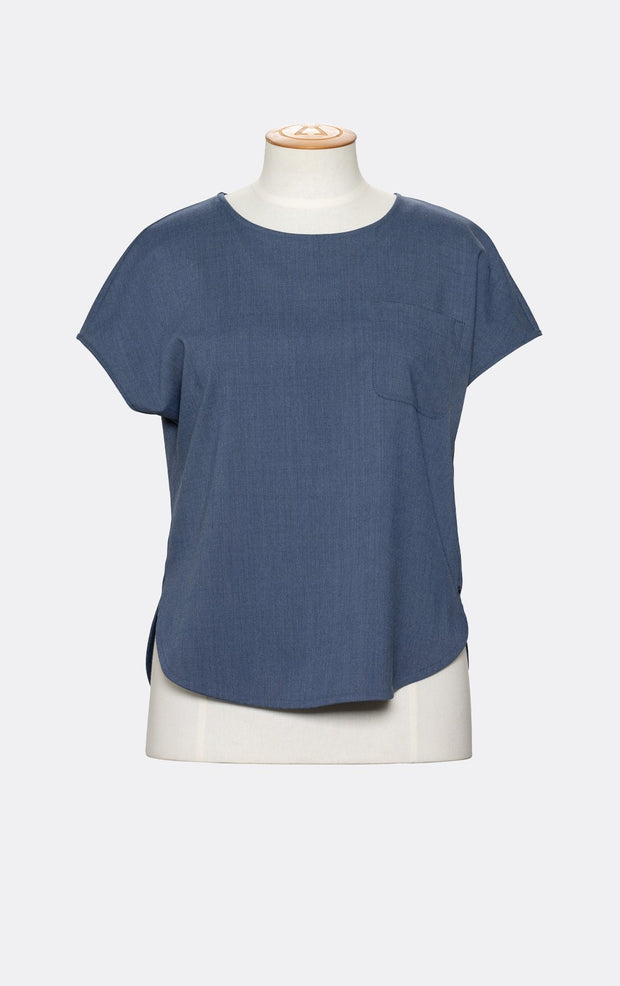 SUMMER WOOL BLEND SWING TEE