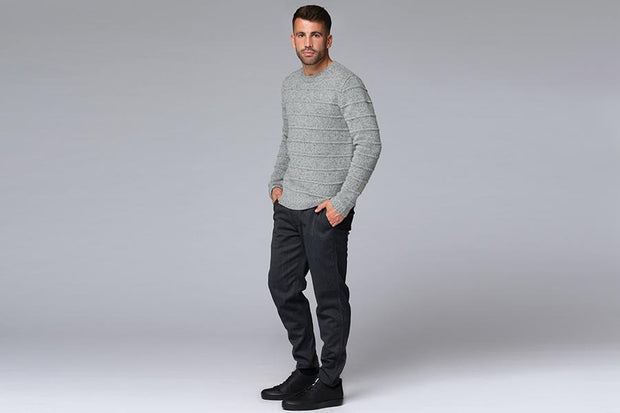 TAPERED WOOL BLEND TROUSER