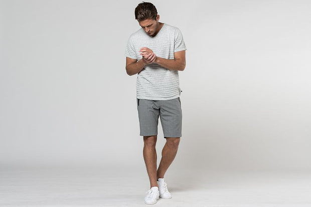 TAILORED SUMMER WOOL BLEND SHORTS