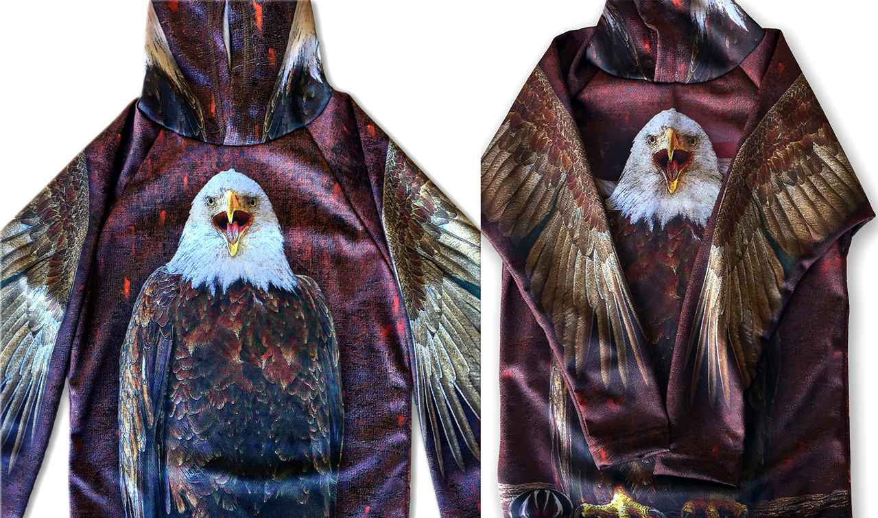 BALD EAGLE Hoodie Sport Shirt by MOUTHMAN®