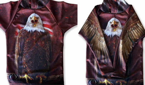 NEW!!! MOUTHMAN® BALD EAGLE USA Hoodie Sport Shirt for Anyone!