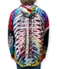 SKELETON in TIE-DYE Hoodie Sport Shirt by MOUTHMAN®