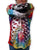Sleeve detail Mouthman tie dye multi colored skeleton face hoodie