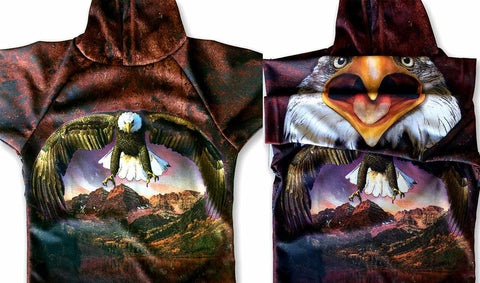 NEW!!! MOUTHMAN® BALD EAGLE SPIRIT Hoodie Sport Shirt for Anyone!