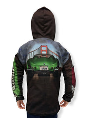 Mouthman® MotorMouths™ GOLDEN GATE Car Hoodie - Back