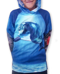 DOLPHIN Hoodie Chomp Shirt by MOUTHMAN®
