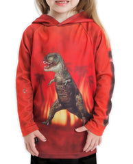 T-REX DINO in RED Hoodie Sport Shirt by MOUTHMAN®