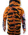 Tiger stripes on Mouthman hoodie