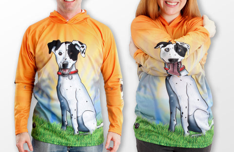 MOUTHMAN® Hound Dog Hoodie Sport Shirt  Tots/Youth/Adults -unisex $34.99 - $48.99+