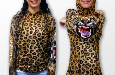 MOUTHMAN® Leopard Hoodie Chomp Shirt Tots/Youth/Adults - unisex $34.99 - $48.99+