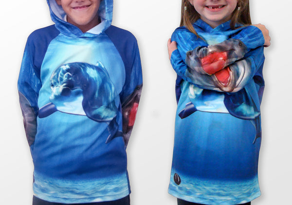 Cute and Colorful Dolphin Hoodie Shirt