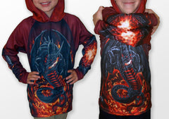 ROARING DRAGON Hoodie Sport Shirt by MOUTHMAN®