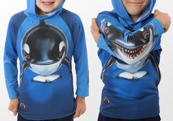 ORCA WHALE Hoodie Sport Shirt by MOUTHMAN®