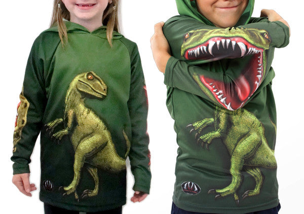 Raptor Hoodie Shirt By Mouthman For Kids And Adults 31