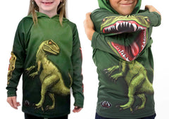 RAPTOR DINO Hoodie Sport Shirt by MOUTHMAN®