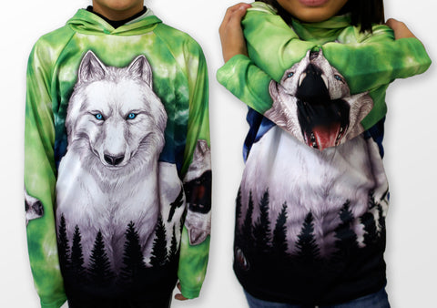 MOUTHMAN® Howling Wolf Hoodie Chomp Shirt  Tots/Youth/Adults -unisex $34.99 - $48.99+