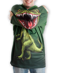 Front detail raptor mouth on sleeves