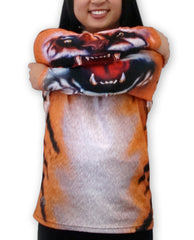 Mouthman animated sleeved Tiger Hoodie shirt by Ross Valory