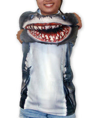 Front view shark mouth on elbows