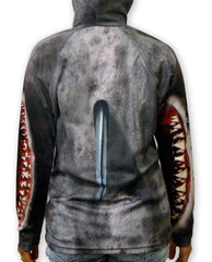 Mouthman hoodie shirt with fin.
