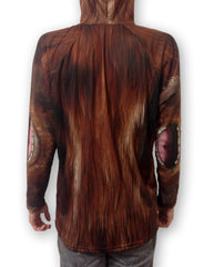 Back view of Bigfoot Hoodie by Mouthman