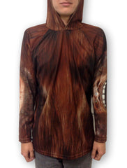 Brown MouthMan Bigfoot hoodie shirt