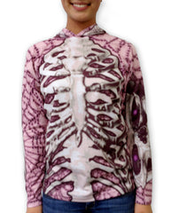 SKELETON in PINK Hoodie Chomp Shirt by MOUTHMAN®