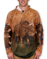 TRICERATOPS Hoodie Sport Shirt by MOUTHMAN®