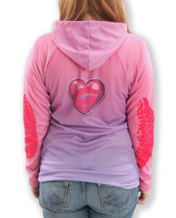 Back view Mouthman xoxo hoodie shirt