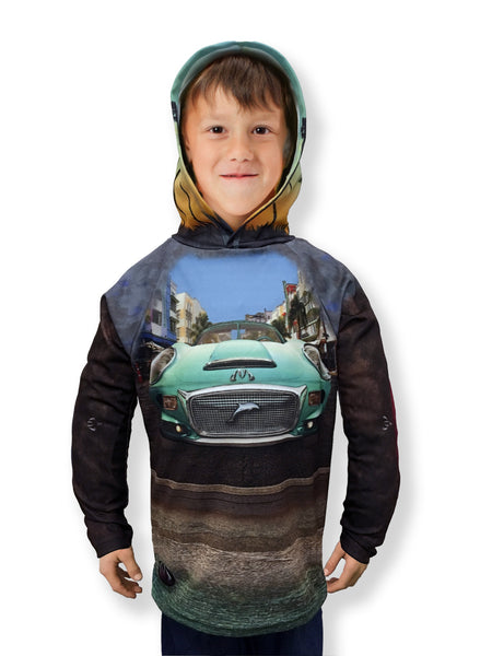 Mouthman® MotorMouths™ Miami Car Hoodie - Front